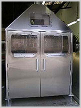 Stainless steel custom exhaust booth for the IC process industry.