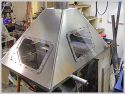 The top of an Fume Hood (Exhaust Booth)